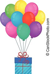 Balloons with gift theme image 1