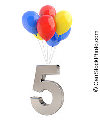 Balloons with Number 5