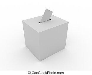 ballot box concept