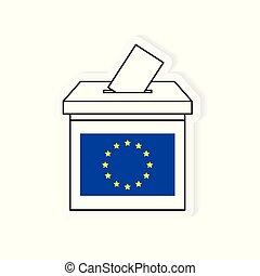 ballot box, european election icon- vector illustration