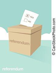 Ballot Box for a Referendum