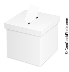 ballot box for election voting vector illustration