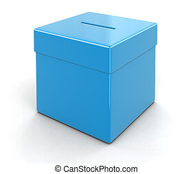Ballot Box. Image with clipping path