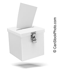 Ballot box isolated on a white background