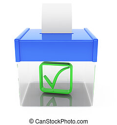 ballot box isolated on white background. 3d rendered image