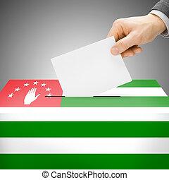 Ballot box painted into national flag - Abkhazia