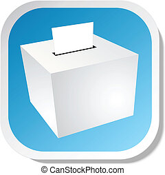 Ballot box sticker icon eps 10
