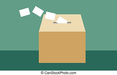 Ballot box to introduce the vote in elections