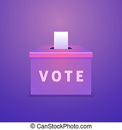 Ballot box vote. Election day concept.