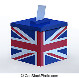 Ballot Box with British flag
