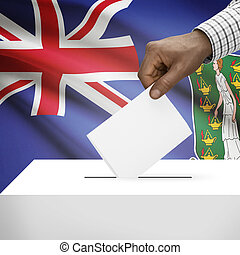 Ballot box with national flag on background series - British Virgin Islands