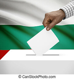Ballot box with national flag on background series- Bulgaria