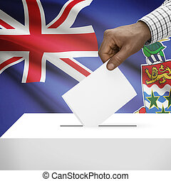 Ballot box with national flag on background series - Cayman Islands