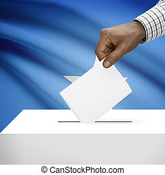 Ballot box with national flag on background series - Federal Republic of Somalia