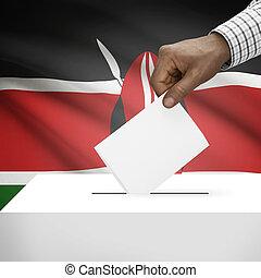Ballot box with national flag on background series - Kenya -...