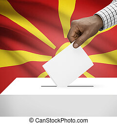 Ballot box with national flag on background series - Republic of Macedonia