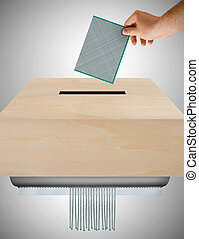 Ballot worthless - image that represents the ballot concept ...