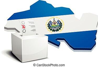 ballotbox El Salvador - detailed illustration of a ballotbox...