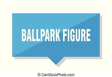 ballpark figure price tag - ballpark figure blue square...