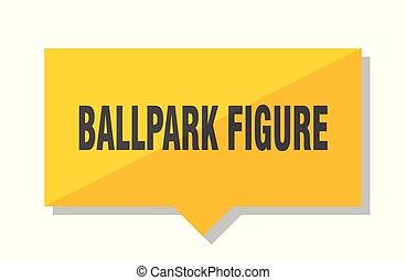 ballpark figure price tag - ballpark figure yellow square...