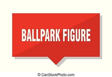 ballpark figure red tag - ballpark figure red square price...