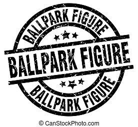 ballpark figure round grunge black stamp
