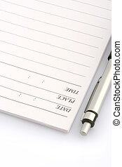 ballpen and notebook