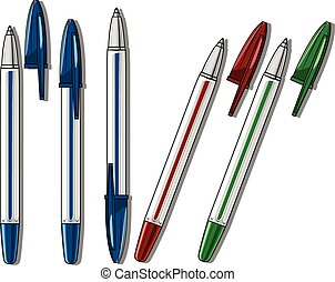 Ballpen pen vector illustration - Drawing tools hand drawn...