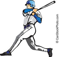 ballplayer, vettore, -