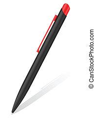 ballpoint pen and shodow - Ballpoint pen and shodow on a...