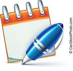 ballpoint pen - Vector illustration of funky elegant...