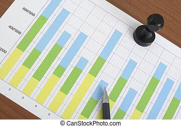 Ballpoint Pen on the Chart
