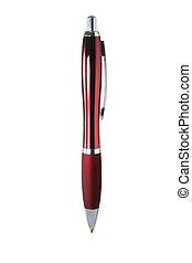 Ballpoint Pen on White Background