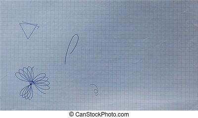 Ballpoint Pen Rosette Shape Drawing