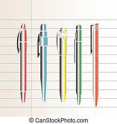 ballpoint pen vector illustration
