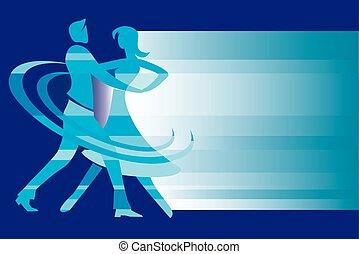 Ballroom dancing background.