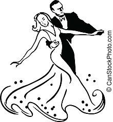 Ballroom dancing - Dancers clipart, vector