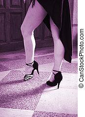 Ballroom female dancer dancing