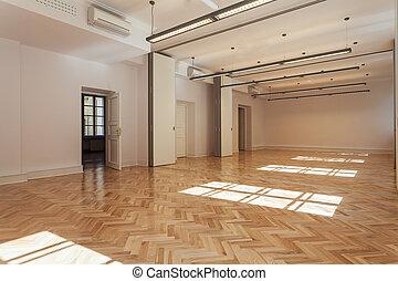 Ballroom - Spacious bright ballroom with a wooden floor
