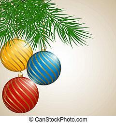 balls., クリスマス, 背景