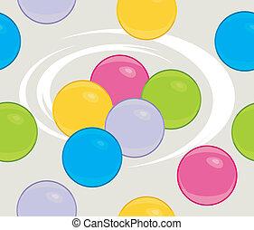 balls., achtergrond kleurde, seamless
