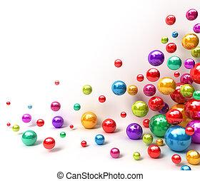 balls., baluginante, astratto, colorito