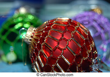 Balls Decorated for Tree