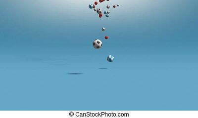 Balls - Falling balls.  3D animation.
