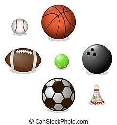 balls for game - Vector illustration of logo for ball game...
