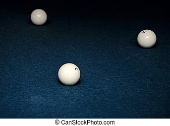 balls for game in the russian billiards on the table