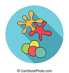 Balls for paintball icon in flat style isolated on white background. Paintball symbol stock vector illustration.
