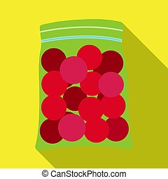 Balls for paintball. Paintball single icon in flat style vector symbol stock illustration web.