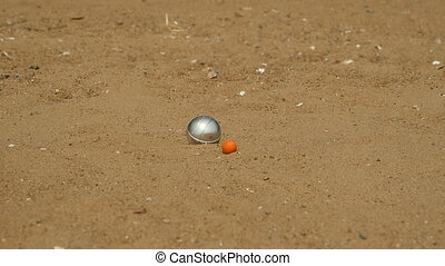 balls for the game in petanque - steel ball,s game of...