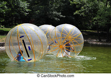 Balls in the water